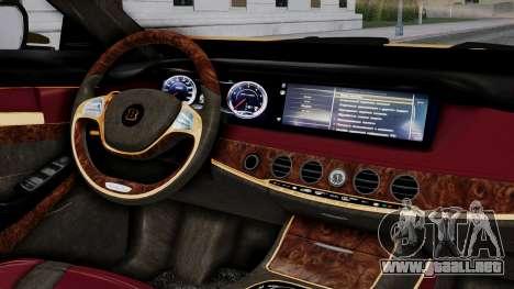 Brabus 850 Gold para la visión correcta GTA San Andreas