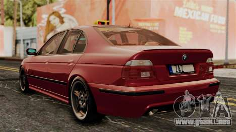 BMW 530D E39 2001 Mtech para GTA San Andreas left