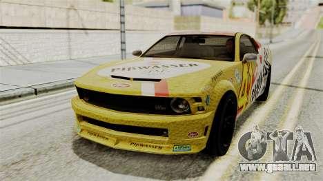 GTA 5 Vapid Dominator IVF para visión interna GTA San Andreas