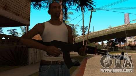AK-47 de la Línea Roja de CS:GO para GTA San Andreas tercera pantalla