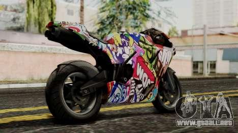 Bati Motorcycle JDM Edition para GTA San Andreas left