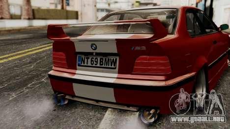 BMW M3 E36 Strike para GTA San Andreas vista hacia atrás