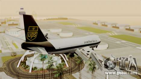 Boeing 747-100 UPS Old para GTA San Andreas left