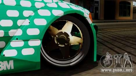 BMW M3 E36 Tic Tac para GTA San Andreas vista posterior izquierda