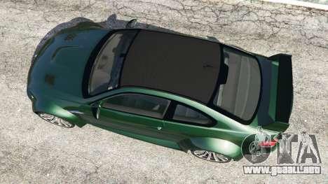 GTA 5 BMW M3 (E92) WideBody vista trasera