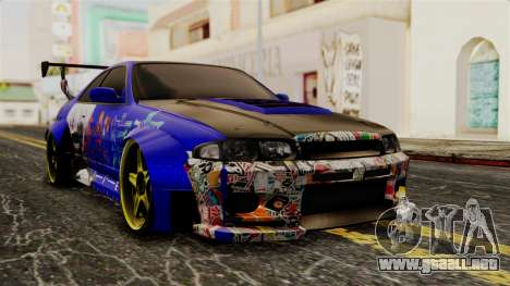 Nissan Skyline R33 Widebody Itasha para GTA San Andreas