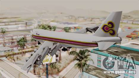 Boeing 747-200 Thai Airways para GTA San Andreas left