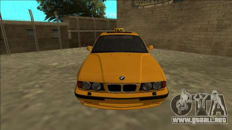 BMW M5 E34 Taxi para la visión correcta GTA San Andreas