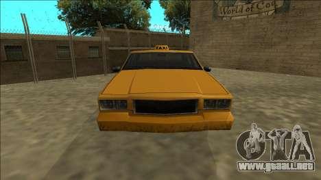 Tahoma Taxi para la visión correcta GTA San Andreas