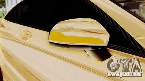 Brabus 850 Gold para la vista superior GTA San Andreas