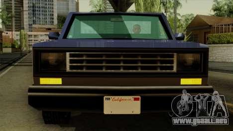 Bobcat from Vice City Stories IVF para visión interna GTA San Andreas