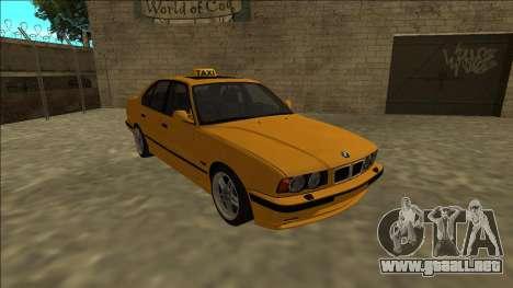 BMW M5 E34 Taxi para GTA San Andreas vista hacia atrás