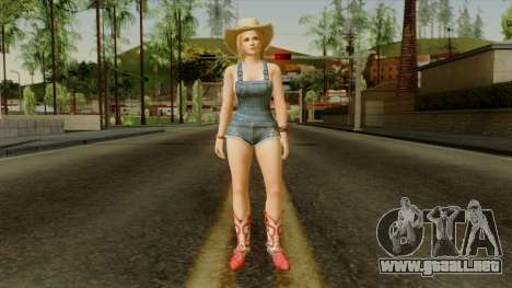 Dead Or Alive 5 Tina Overalls para GTA San Andreas segunda pantalla