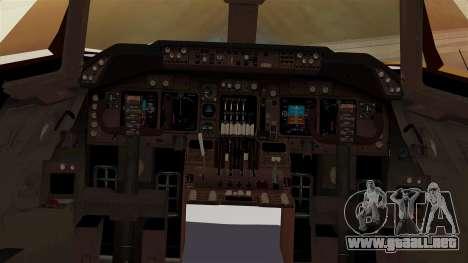 Boeing 747-100 UPS Old para visión interna GTA San Andreas