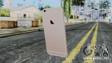 iPhone 6S Rose Gold para GTA San Andreas segunda pantalla