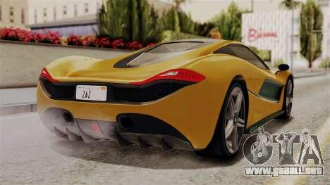 GTA 5 Progen T20 IVF para GTA San Andreas left