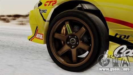 Nissan Silvia S15 RDS NGK para GTA San Andreas vista posterior izquierda