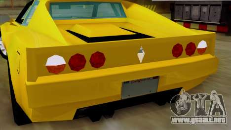 Cheetah from Vice City Stories IVF para la vista superior GTA San Andreas