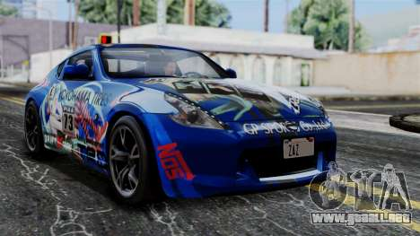 Nissan 370Z Tunable Miku Paintjob para GTA San Andreas