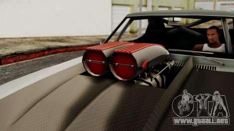 Chevrolet Camaro Drag Street para la visión correcta GTA San Andreas