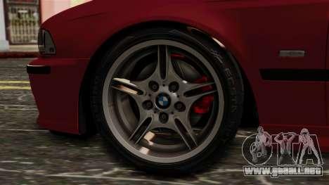 BMW 530D E39 2001 Mtech para GTA San Andreas vista posterior izquierda