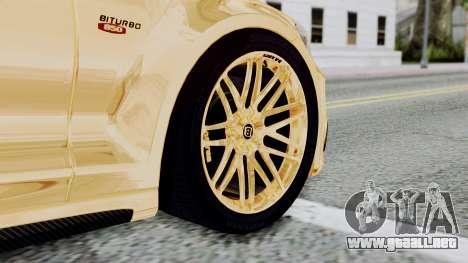 Brabus 850 Gold para GTA San Andreas vista posterior izquierda