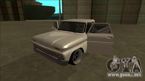 Chevrolet C10 Drift para visión interna GTA San Andreas