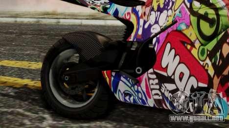 Bati Motorcycle JDM Edition para GTA San Andreas vista hacia atrás