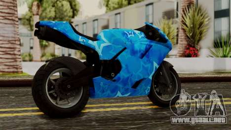 Bati VIP Star Motorcycle para GTA San Andreas left