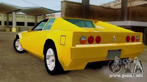 Cheetah from Vice City Stories IVF para GTA San Andreas left