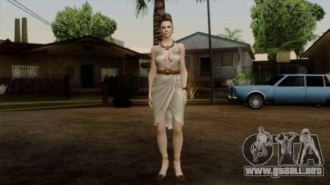 RE5 Excella Gione para GTA San Andreas segunda pantalla