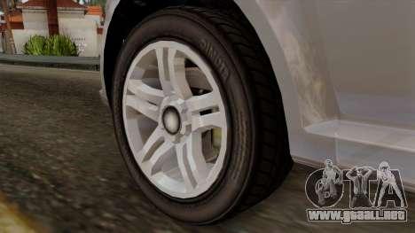 GTA 5 Declasse Asea para GTA San Andreas vista posterior izquierda