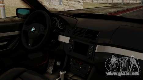 BMW 530D E39 2001 Mtech para la visión correcta GTA San Andreas