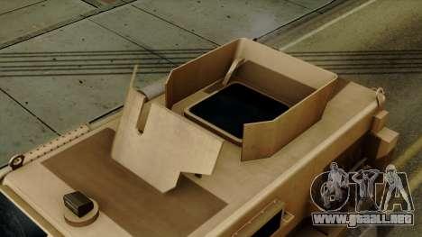 MRAP Cougar 4x4 para la visión correcta GTA San Andreas