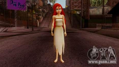 Ariel Mermaid para GTA San Andreas segunda pantalla