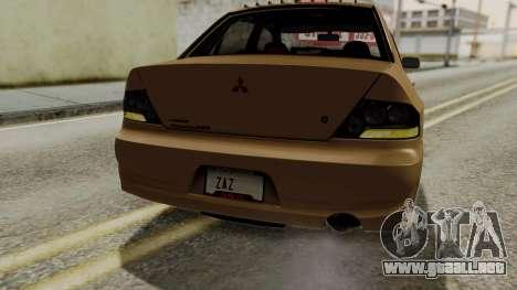 Mitsubishi Lancer Evolution IX MR 2006 para el motor de GTA San Andreas