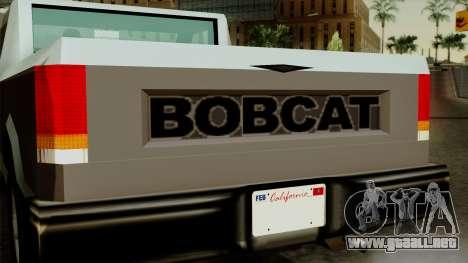 Bobcat from Vice City Stories para la visión correcta GTA San Andreas