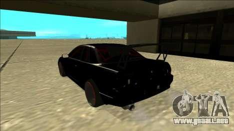 Nissan Skyline R32 Drift para GTA San Andreas vista posterior izquierda