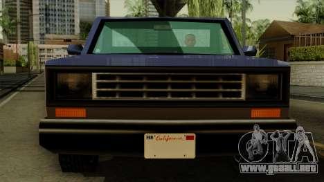 Bobcat from Vice City Stories IVF para GTA San Andreas vista hacia atrás