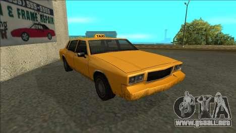 Tahoma Taxi para GTA San Andreas left
