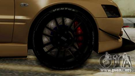 Mitsubishi Lancer Evolution IX MR 2006 para GTA San Andreas vista posterior izquierda