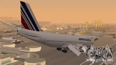 Boeing 747 Air France para GTA San Andreas left