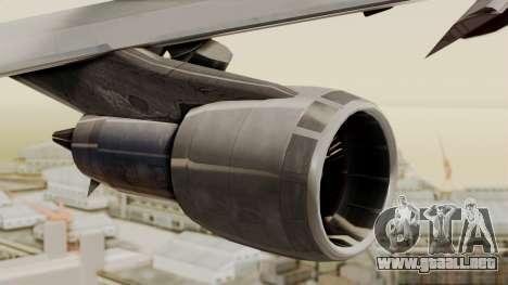 Boeing 747 Template para la visión correcta GTA San Andreas