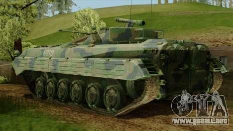 CoD 4 MW 2 BMP-2 Woodland para GTA San Andreas left