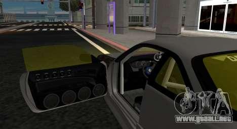 Nissan Silvia S14 JDM v0.1 para GTA San Andreas vista posterior izquierda