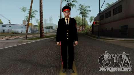 Vice-Sargento Kazan Suvorov de la Escuela milita para GTA San Andreas segunda pantalla