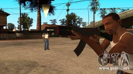 AK-47 de la Línea Roja de CS:GO para GTA San Andreas segunda pantalla