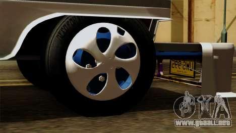 Auto Pormado - Gabshop Custom Jeepney para GTA San Andreas vista posterior izquierda