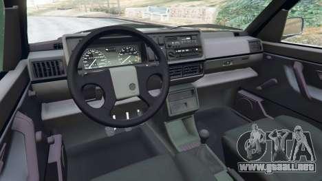 GTA 5 Volkswagen Golf Mk2 GTI vista lateral derecha