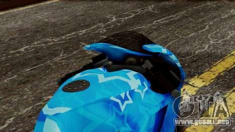 Bati VIP Star Motorcycle para GTA San Andreas vista hacia atrás